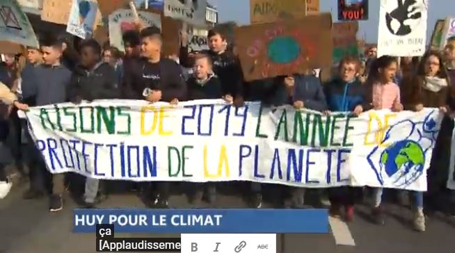 Les jeunes pour le climat à Huy