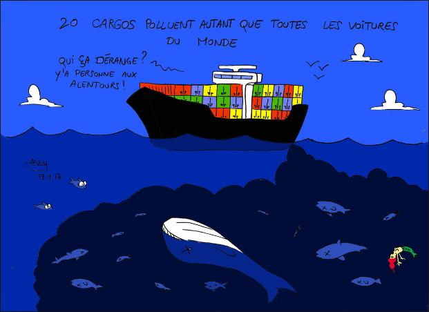 La pollution des cargos et navires