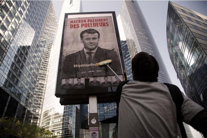 Action de désobéissance civile à Paris