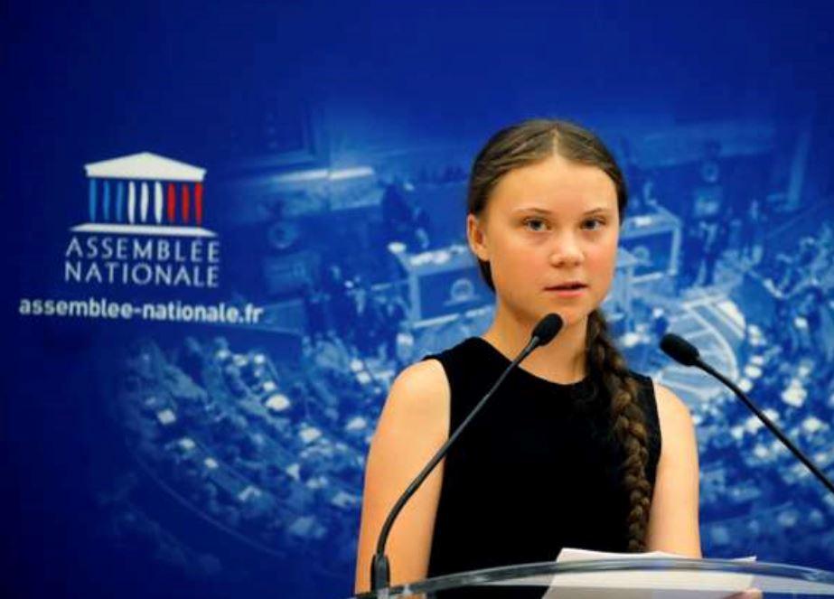 Greta Thunberg à l'Assemblée nationale