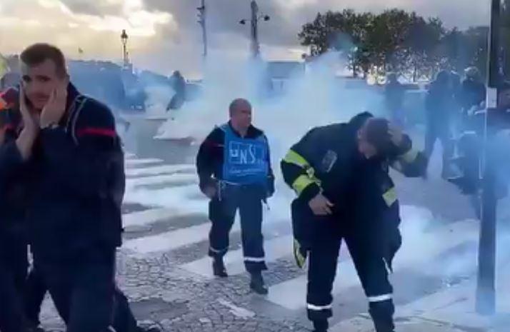 Gazage des pompiers