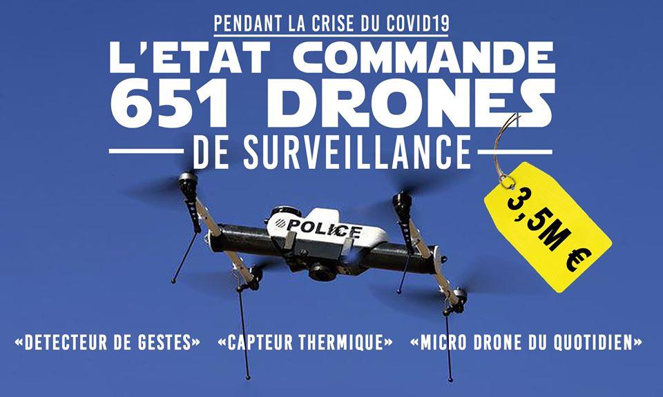 651 drones en commande