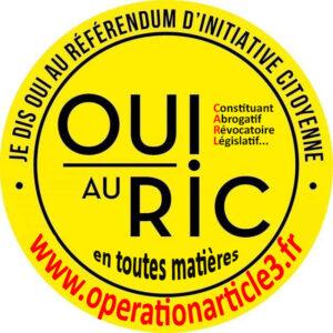 Opération article 3 pour la mise en place du RIC.